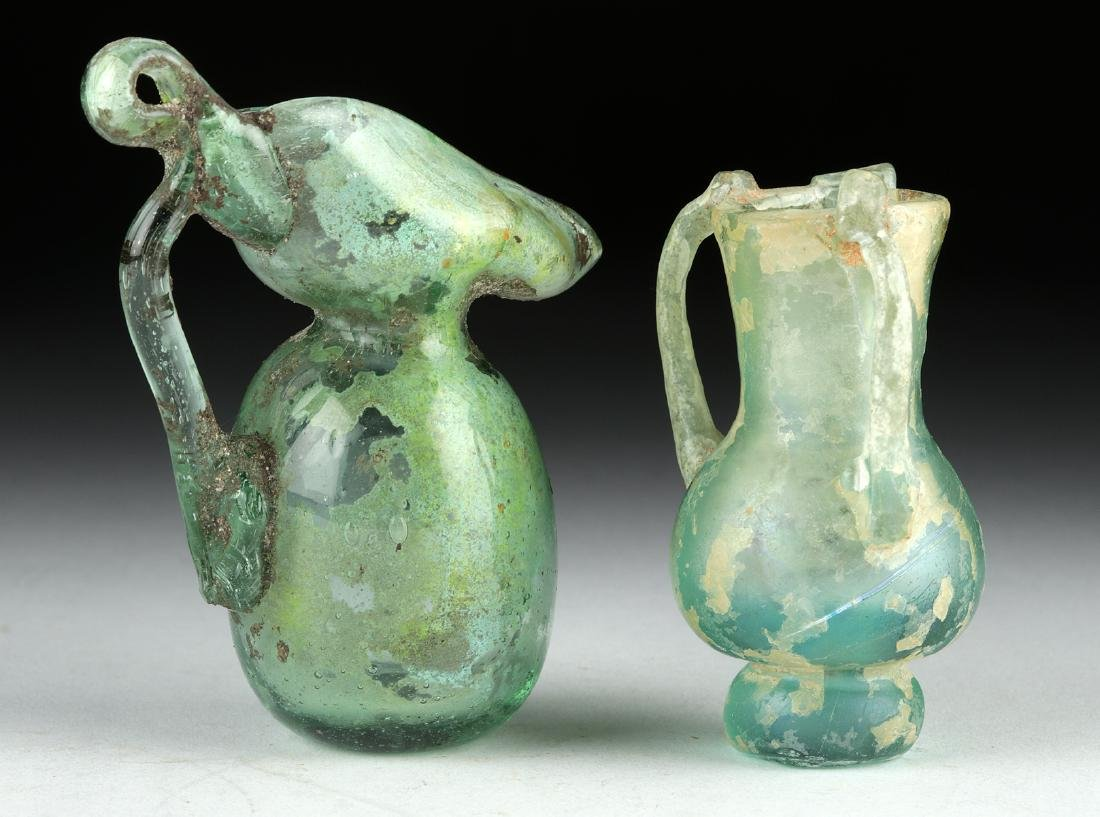 Miniature Roman Glass Vessels - Flask + Oinochoe - 4