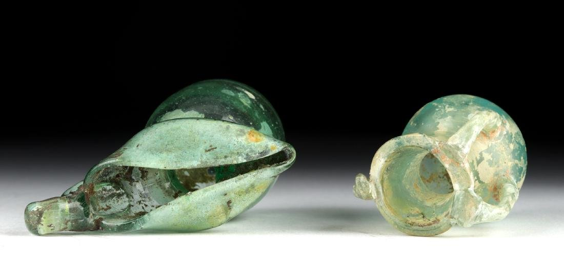 Miniature Roman Glass Vessels - Flask + Oinochoe - 5