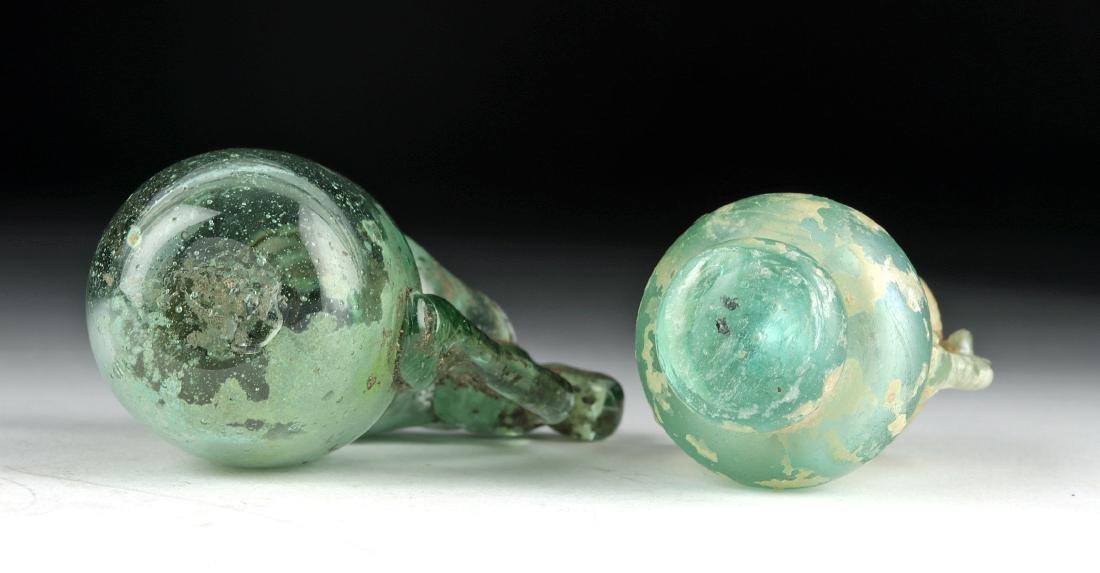 Miniature Roman Glass Vessels - Flask + Oinochoe - 6