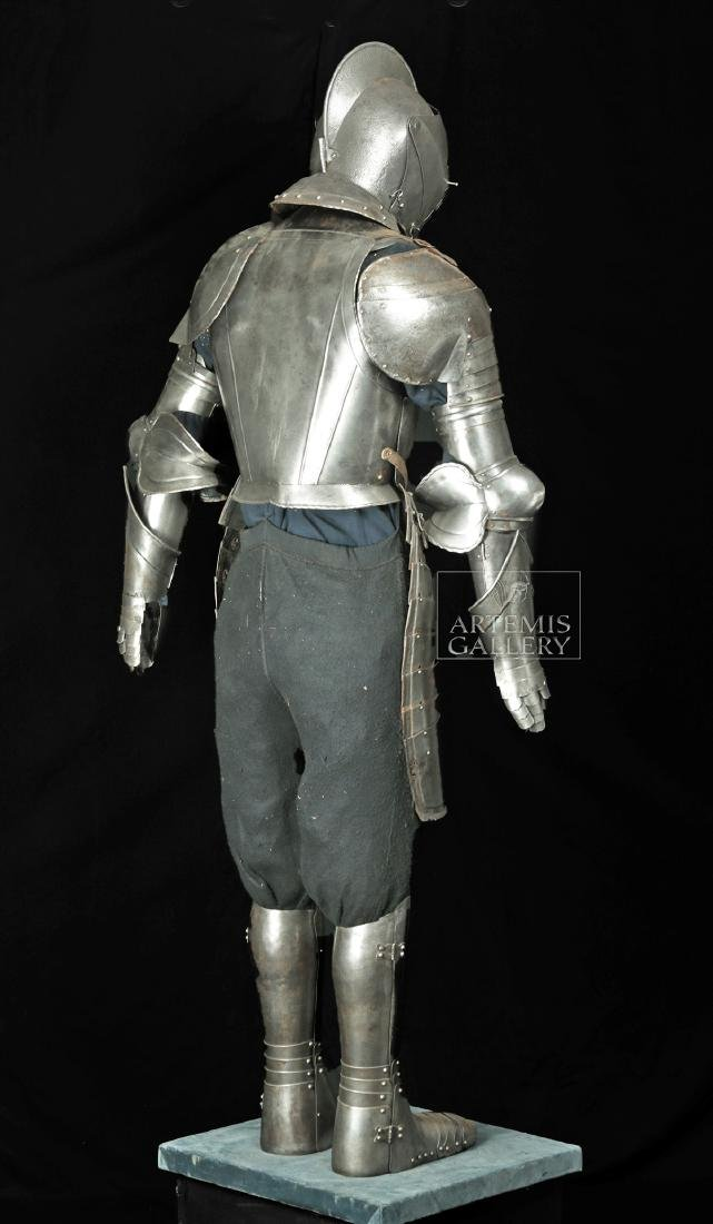19th. C. English Suit of Armor with Helmet, Displayed - 3