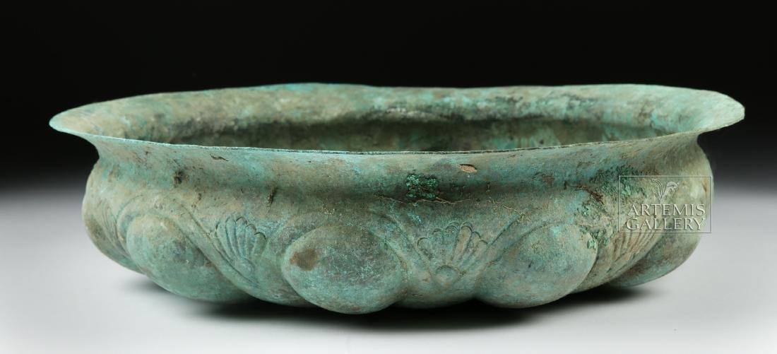 Huge Achaemenid Bronze Basin w/ Omphalos - 3