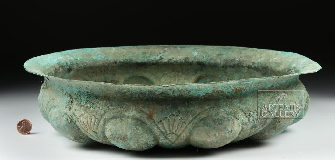 Huge Achaemenid Bronze Basin w/ Omphalos - 4