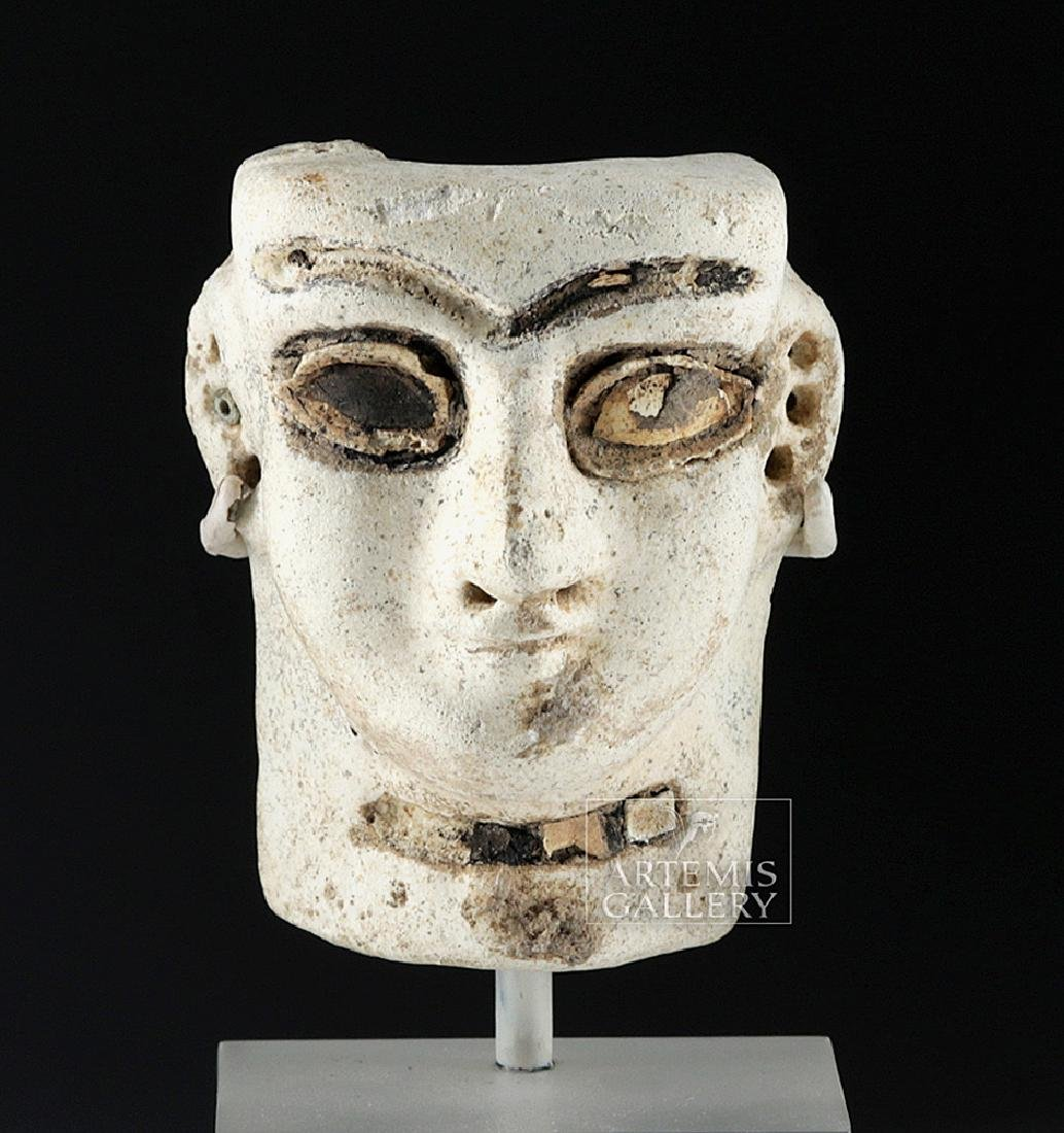 Published Mesopotamian Faience Head - Shell & Bitumen