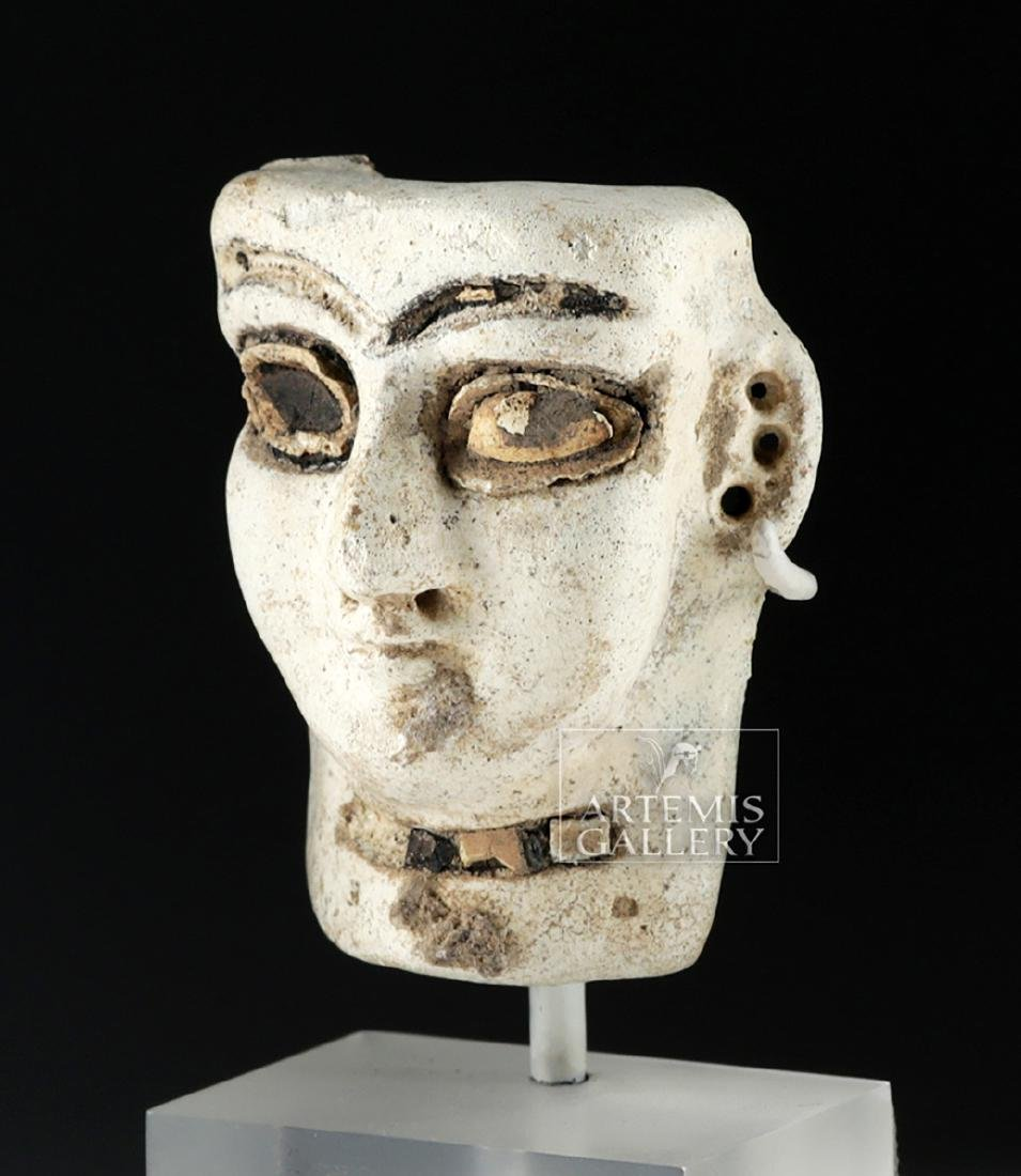 Published Mesopotamian Faience Head - Shell & Bitumen - 2