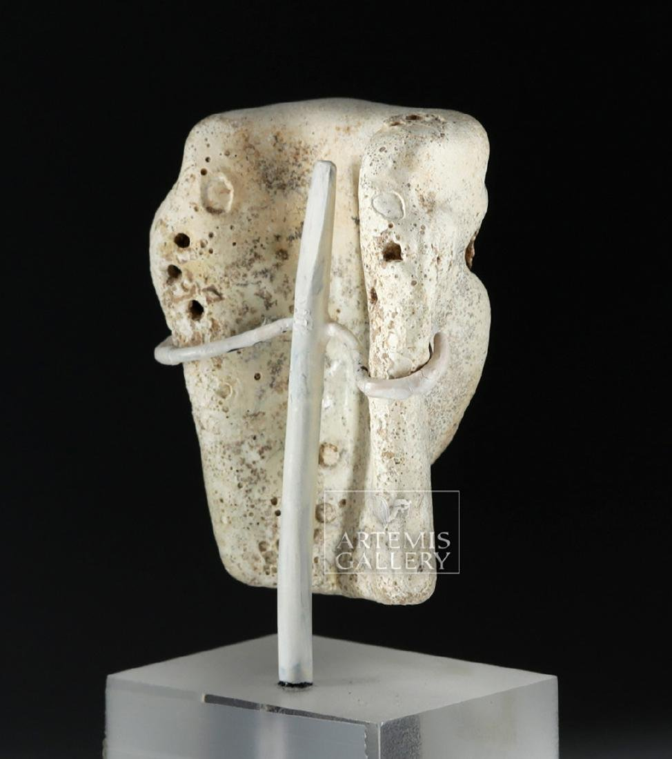 Published Mesopotamian Faience Head - Shell & Bitumen - 4
