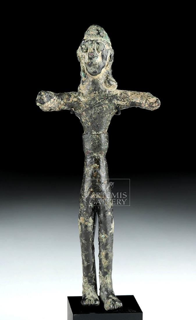 Ancient Nabataean Bronze Standing Votive Figure