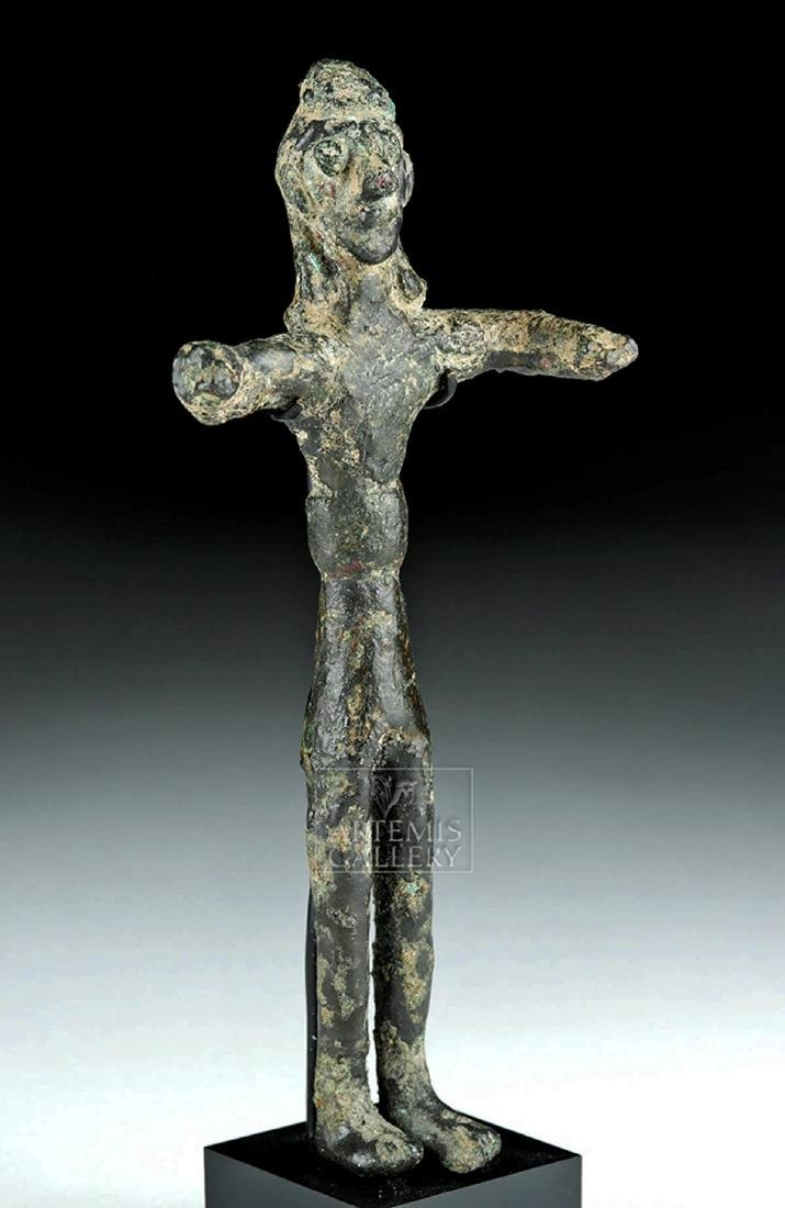 Ancient Nabataean Bronze Standing Votive Figure - 2