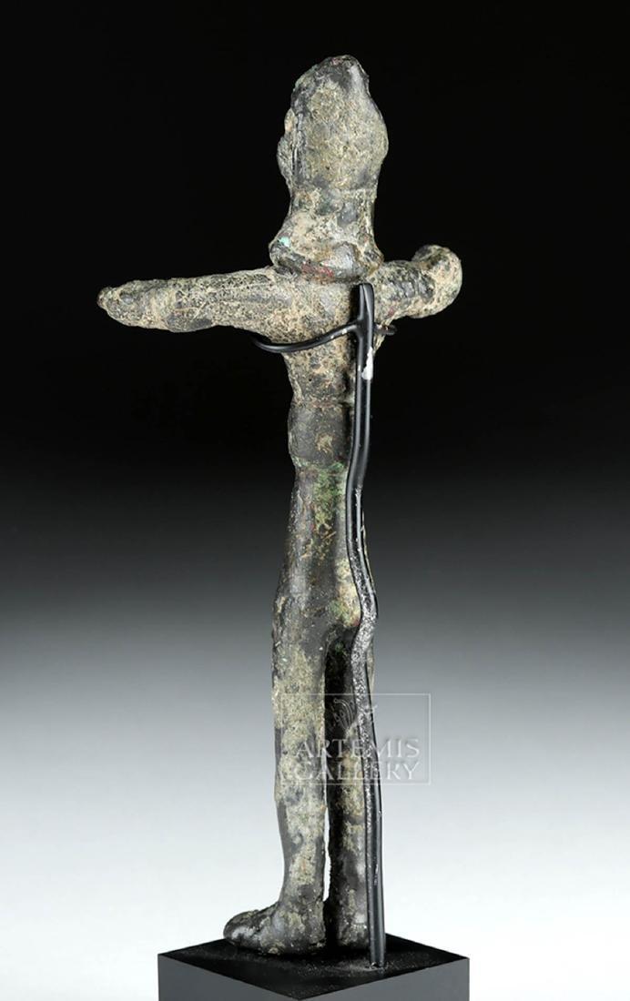 Ancient Nabataean Bronze Standing Votive Figure - 4