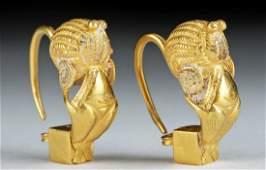 Parthian 18K Gold Earring Pair, Ex-Christie's, 8.1 g