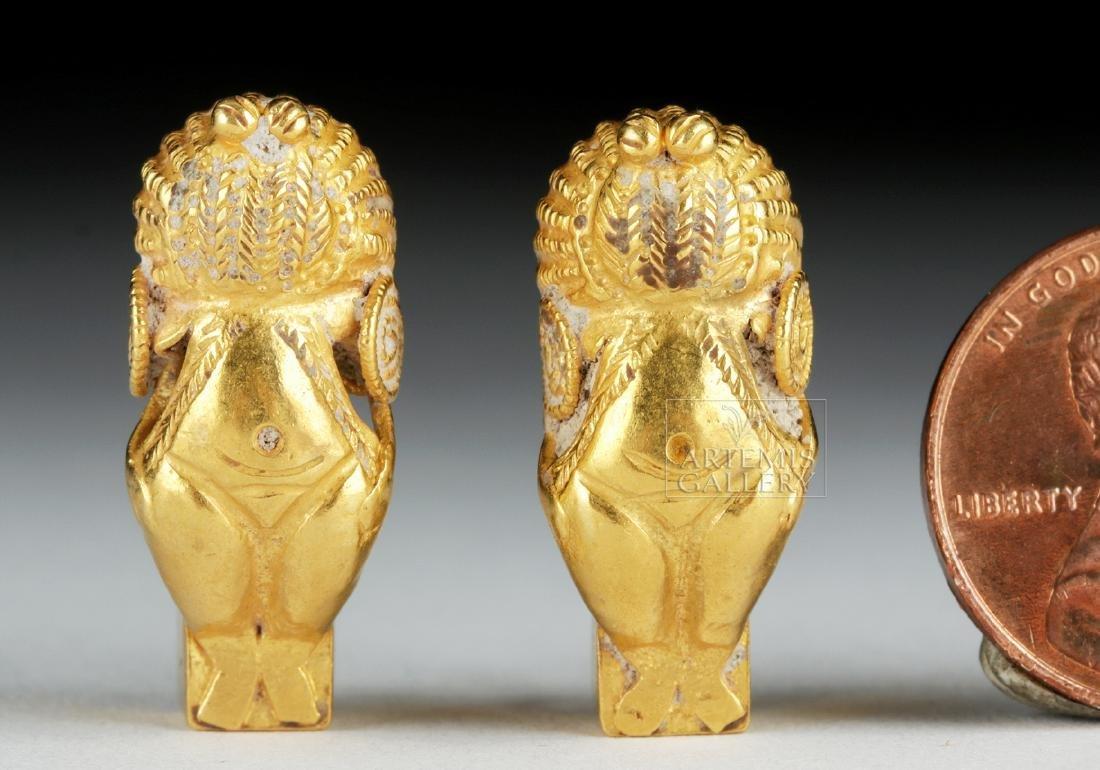 Parthian 18K Gold Earring Pair, Ex-Christie's, 8.1 g - 2