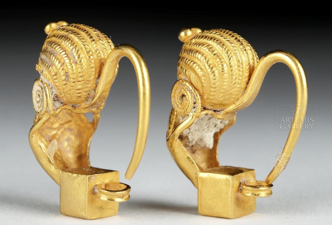 Parthian 18K Gold Earring Pair, Ex-Christie's, 8.1 g - 3