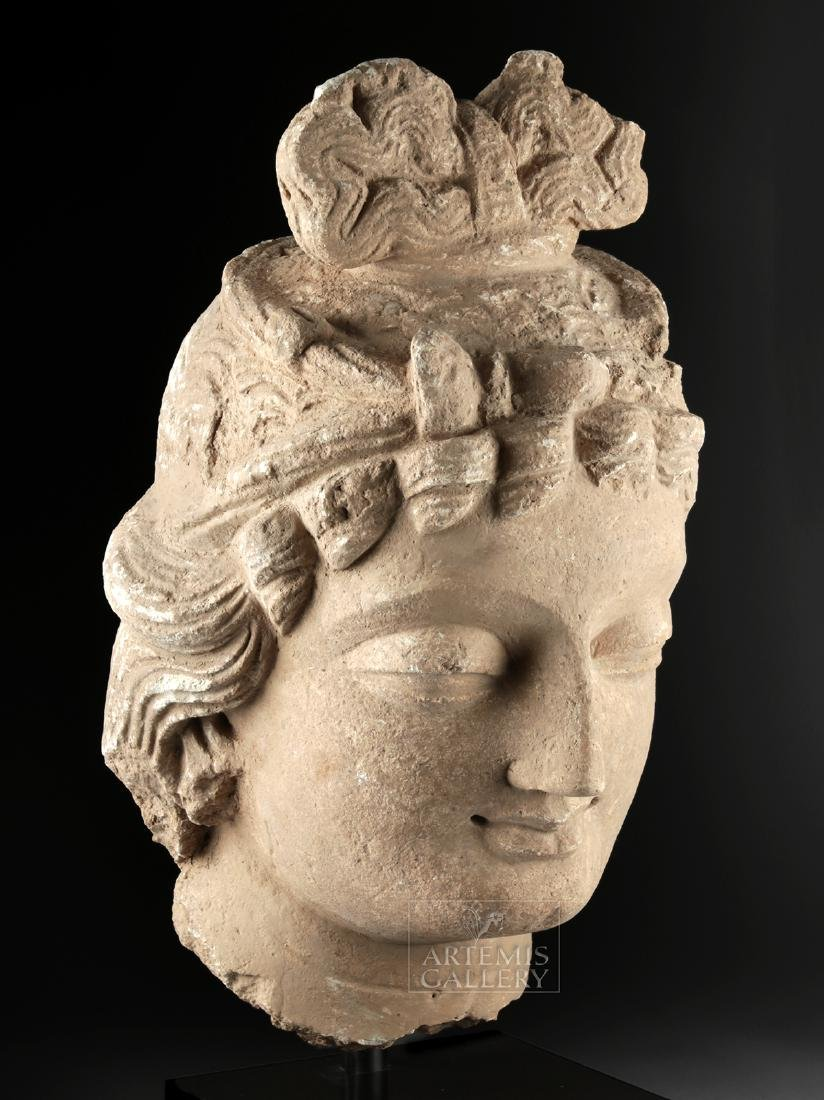 Monumental Gandharan Stucco Head of Bodhisattva - 2