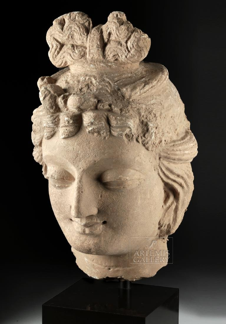 Monumental Gandharan Stucco Head of Bodhisattva - 3