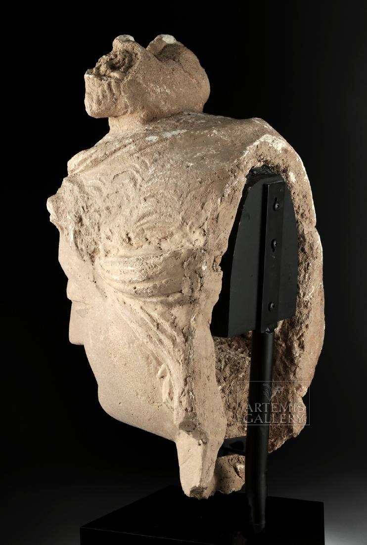 Monumental Gandharan Stucco Head of Bodhisattva - 4