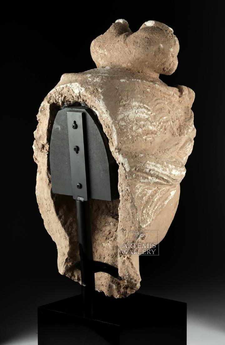 Monumental Gandharan Stucco Head of Bodhisattva - 5