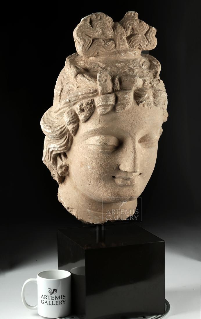 Monumental Gandharan Stucco Head of Bodhisattva - 6