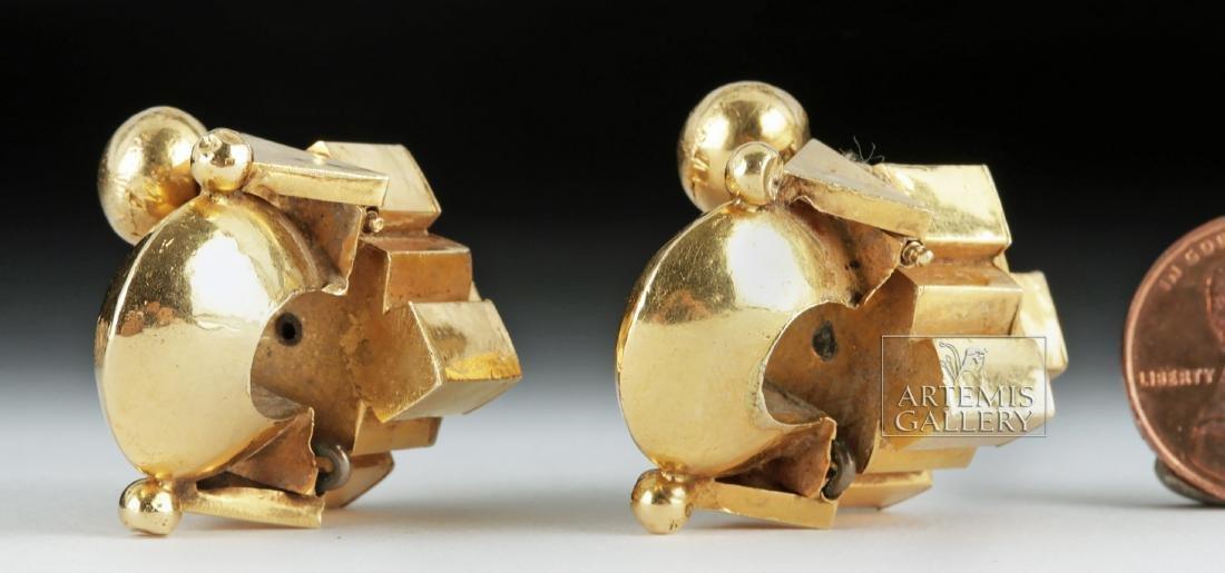 Indian Thandatti 20K Gold Ear Ornaments- 20.3 g - 3