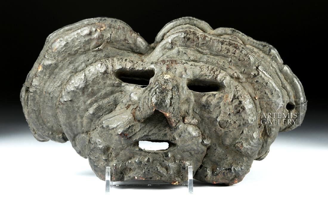 Early 20th C. Fine Nepalese Mushroom Mask