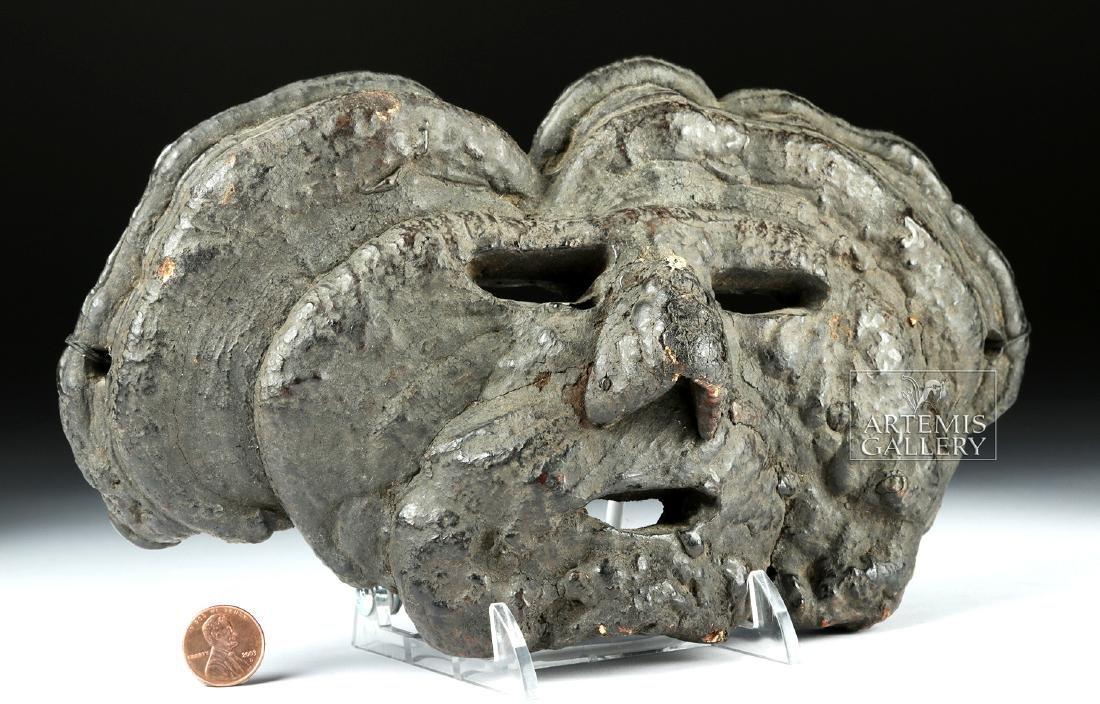 Early 20th C. Fine Nepalese Mushroom Mask - 2