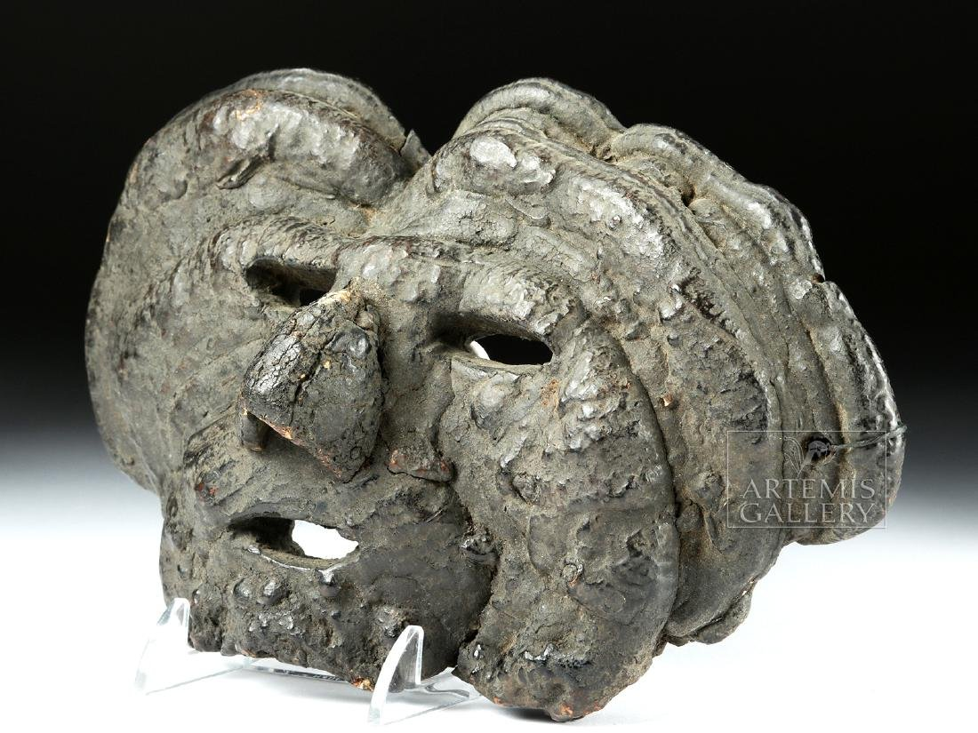 Early 20th C. Fine Nepalese Mushroom Mask - 3