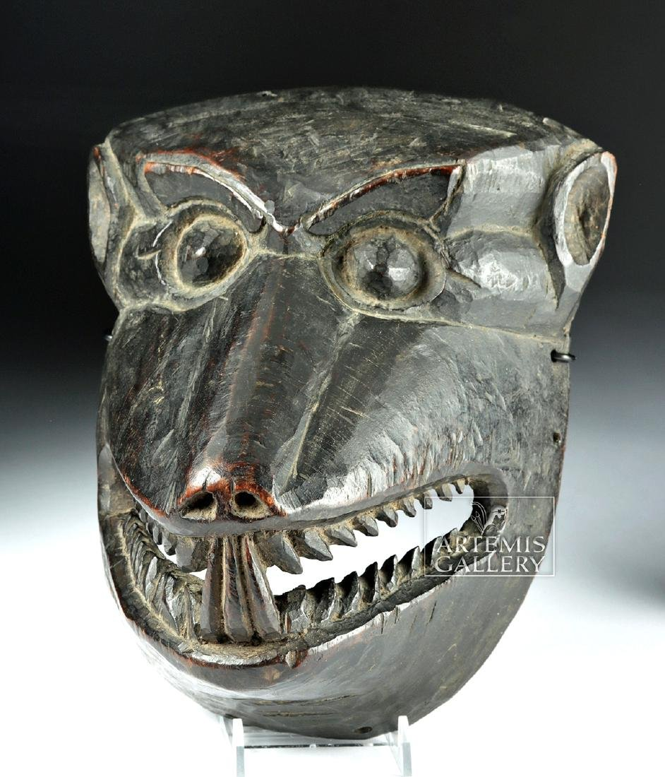 Fine 20th C. Nepalese Wooden Canine Mask, ex-Arnovick
