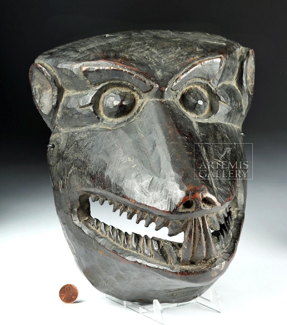 Fine 20th C. Nepalese Wooden Canine Mask, ex-Arnovick - 2