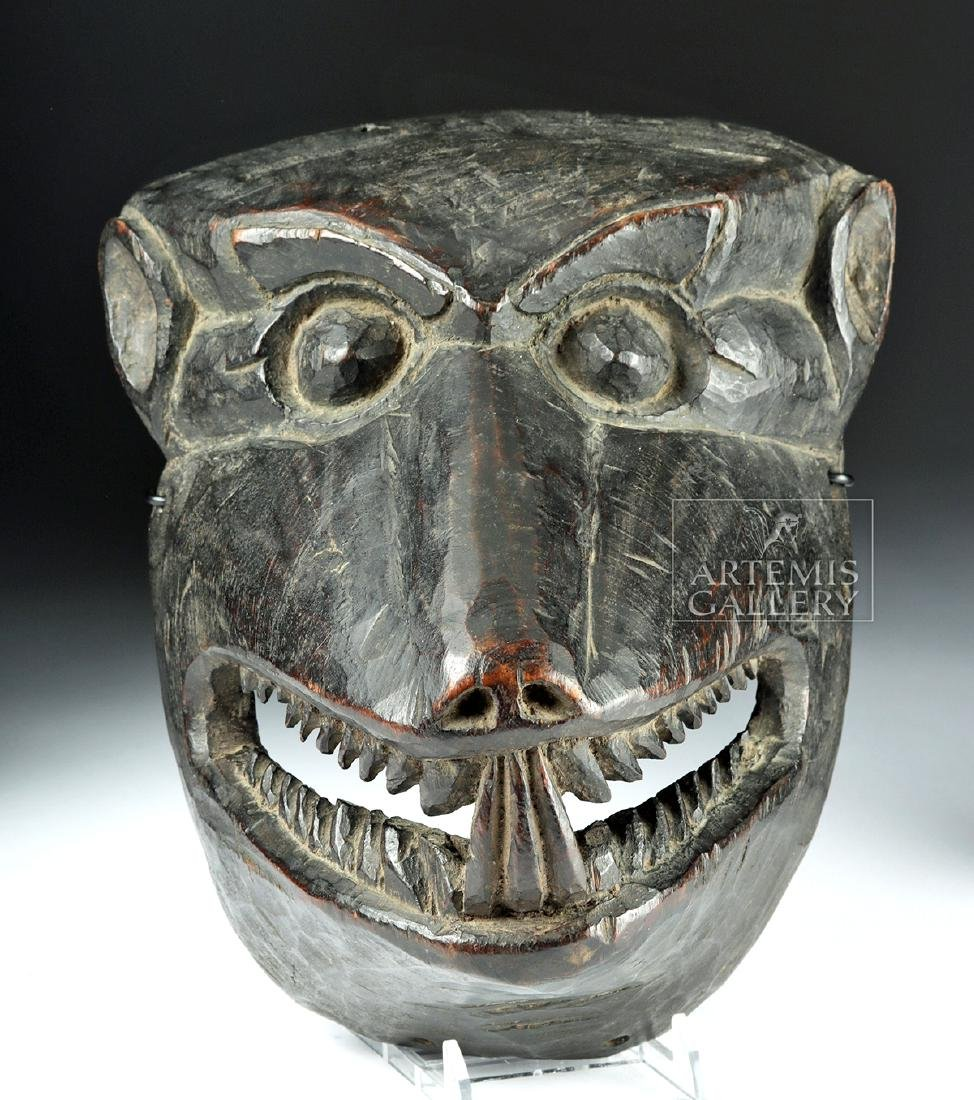 Fine 20th C. Nepalese Wooden Canine Mask, ex-Arnovick - 3