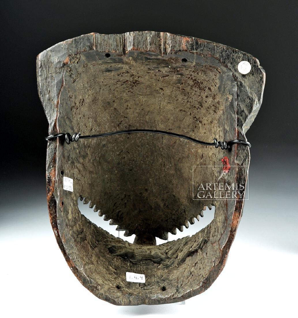 Fine 20th C. Nepalese Wooden Canine Mask, ex-Arnovick - 4
