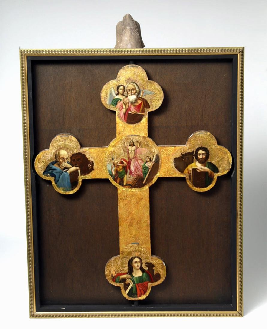 Exhibited 19th C. Russian Icon - Processional Cross