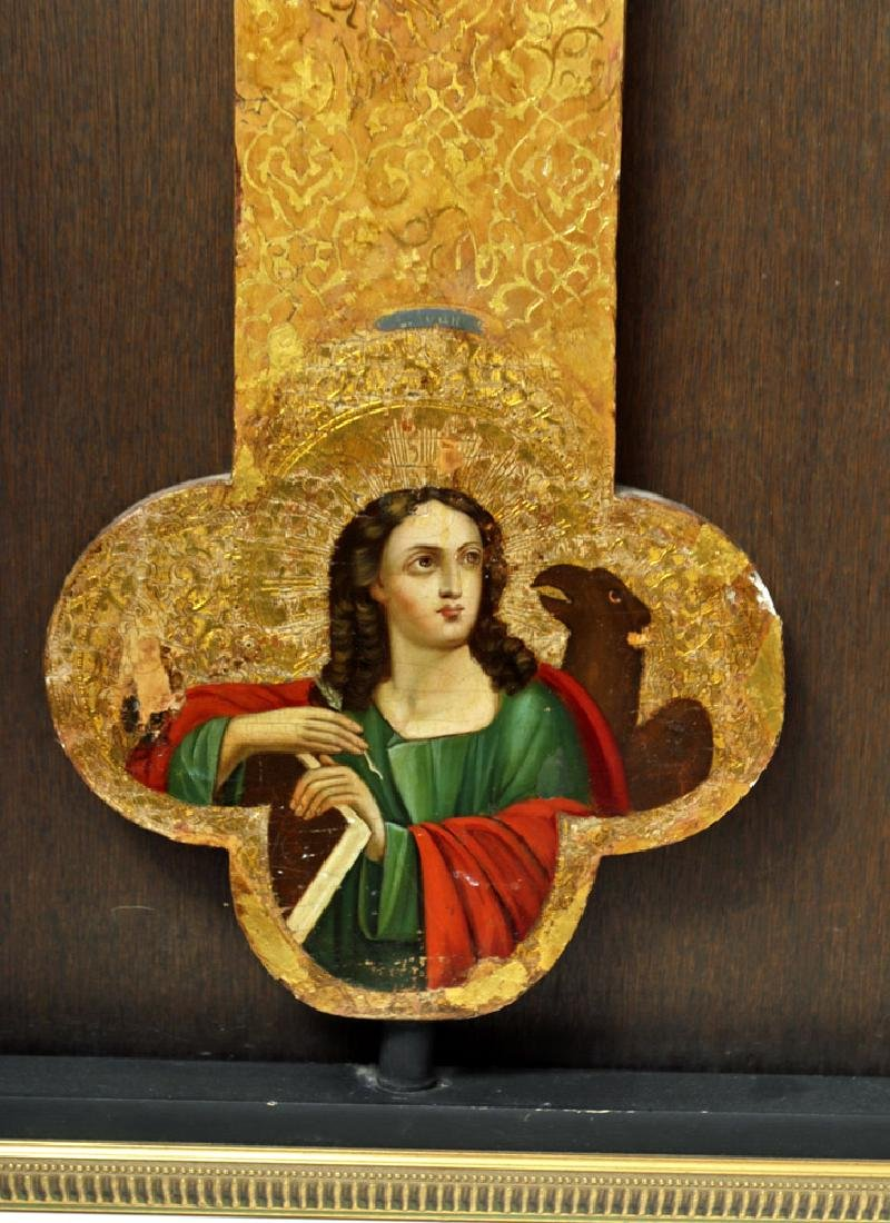 Exhibited 19th C. Russian Icon - Processional Cross - 6