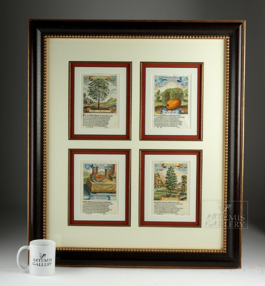 17th C. German Hand-Colored Copper Plate Engravings - 7