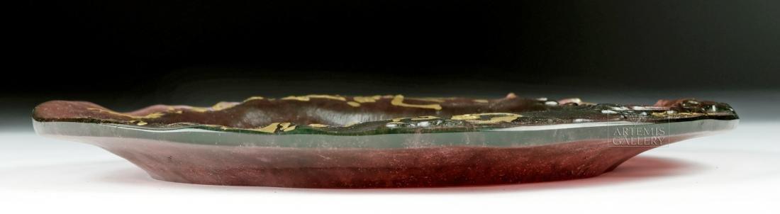 Dali Daum Glass Plate Ceci N'est Pas Une Assiette 1970s - 4