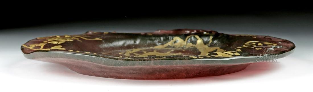 Dali Daum Glass Plate Ceci N'est Pas Une Assiette 1970s - 5