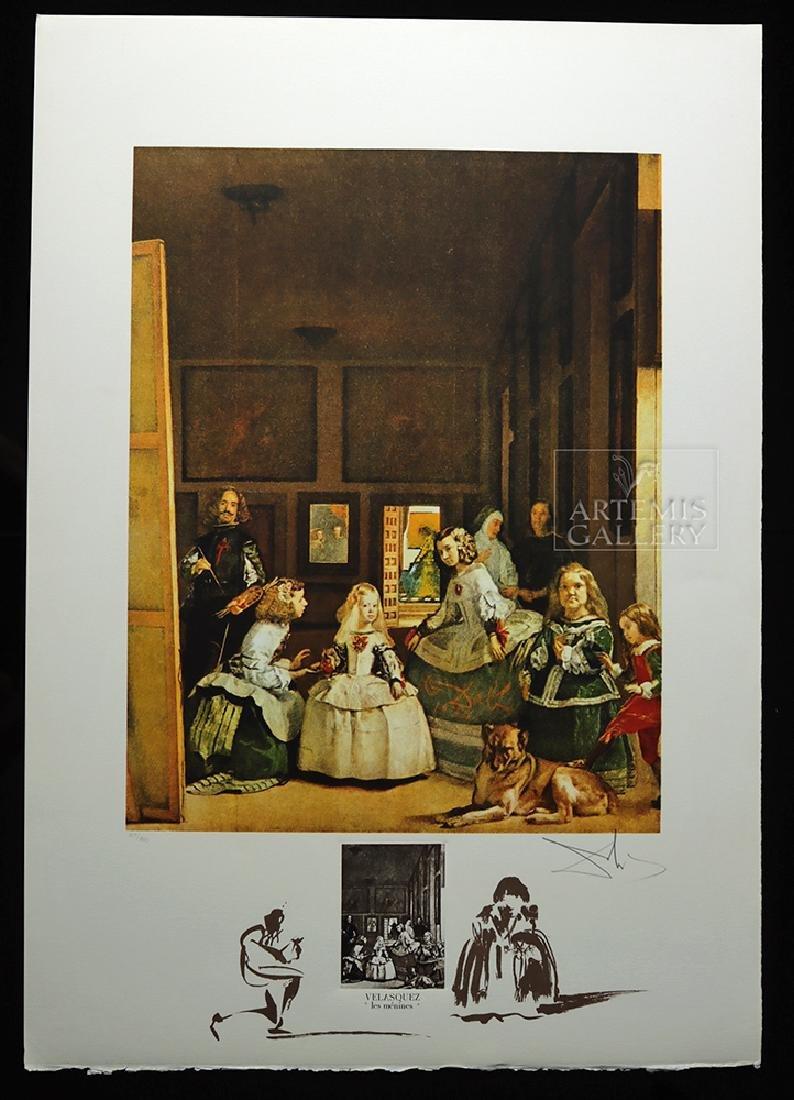 """Signed Dali Lithograph """"Velasquez Les Menines"""" - 1974"""