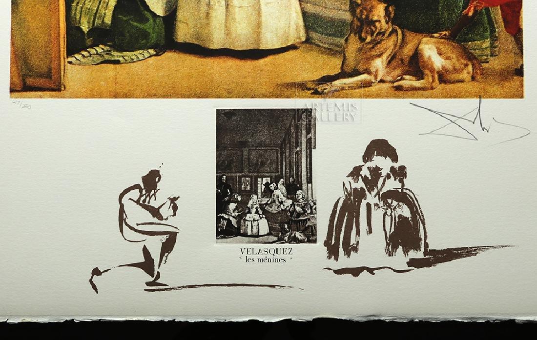 """Signed Dali Lithograph """"Velasquez Les Menines"""" - 1974 - 3"""