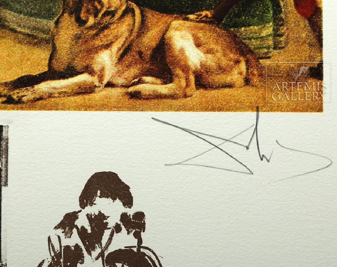 """Signed Dali Lithograph """"Velasquez Les Menines"""" - 1974 - 4"""