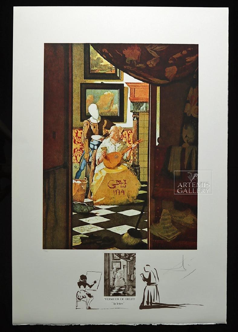 "Signed Dali ""Vermeer de Delft La Lettre"" - 1974"