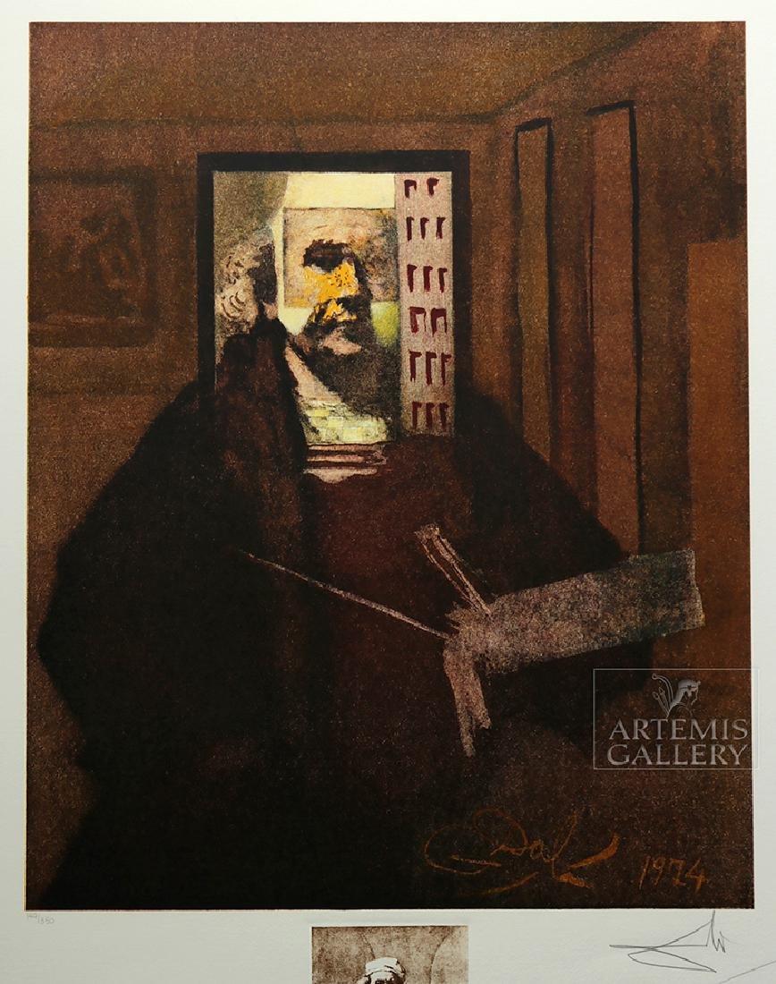 "Signed Dali Lithograph ""Rembrandt Portrait..."" 1974 - 2"