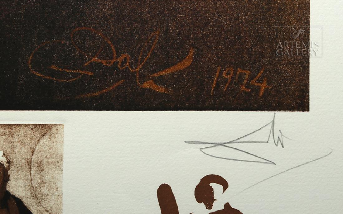 "Signed Dali Lithograph ""Rembrandt Portrait..."" 1974 - 4"