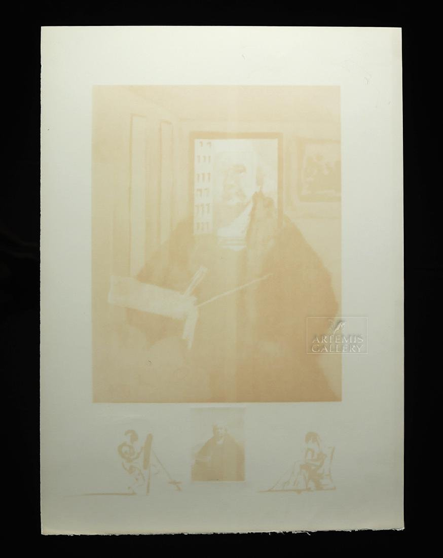 "Signed Dali Lithograph ""Rembrandt Portrait..."" 1974 - 6"