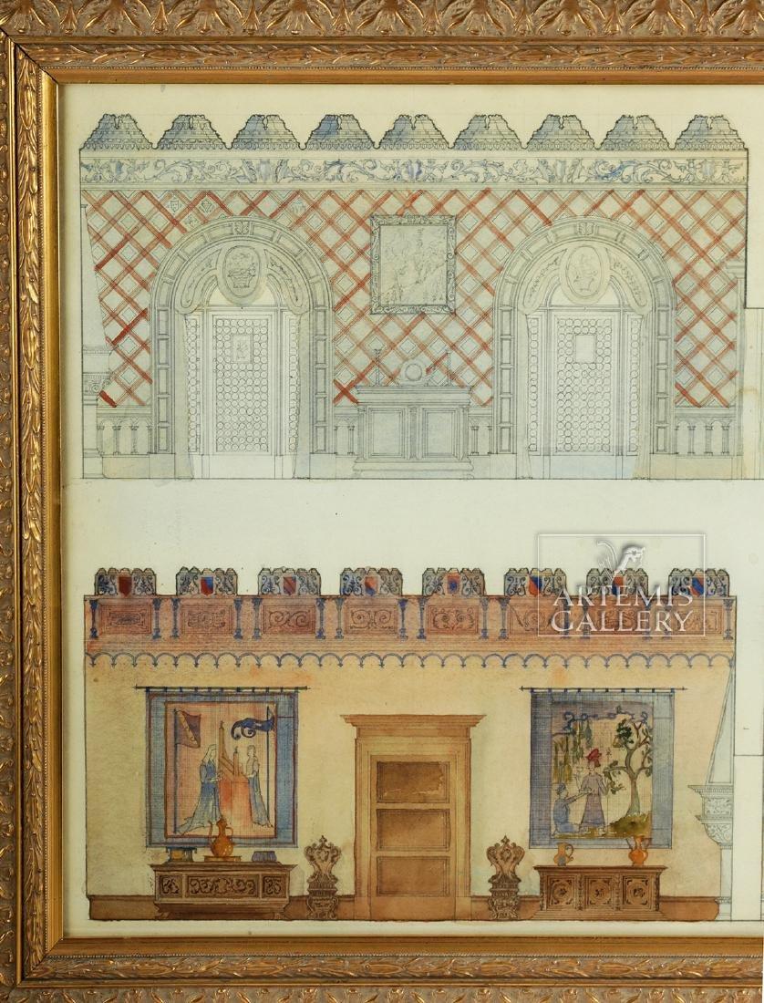American Watercolor - Arts & Crafts Interior - 1920 - 2