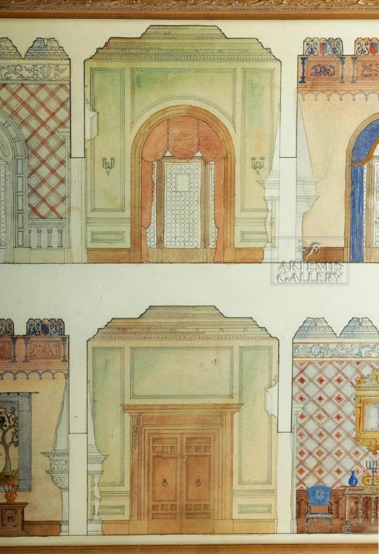 American Watercolor - Arts & Crafts Interior - 1920 - 3