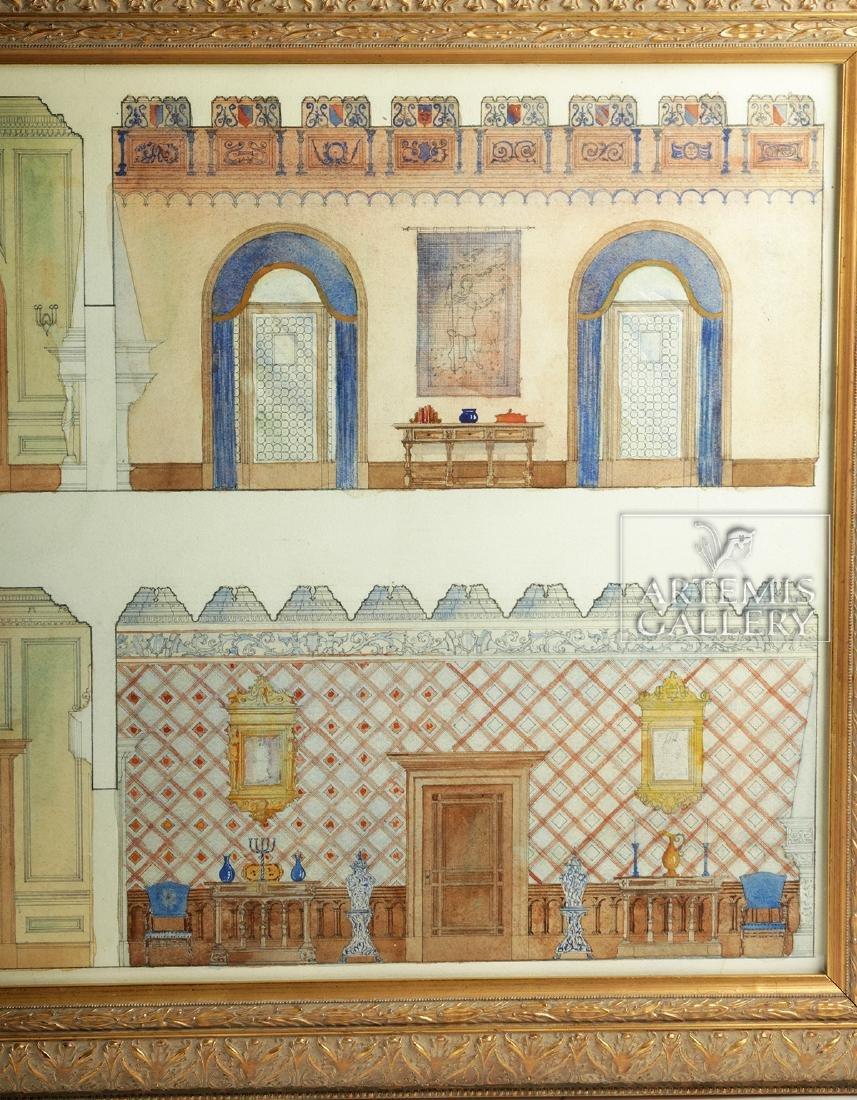 American Watercolor - Arts & Crafts Interior - 1920 - 4