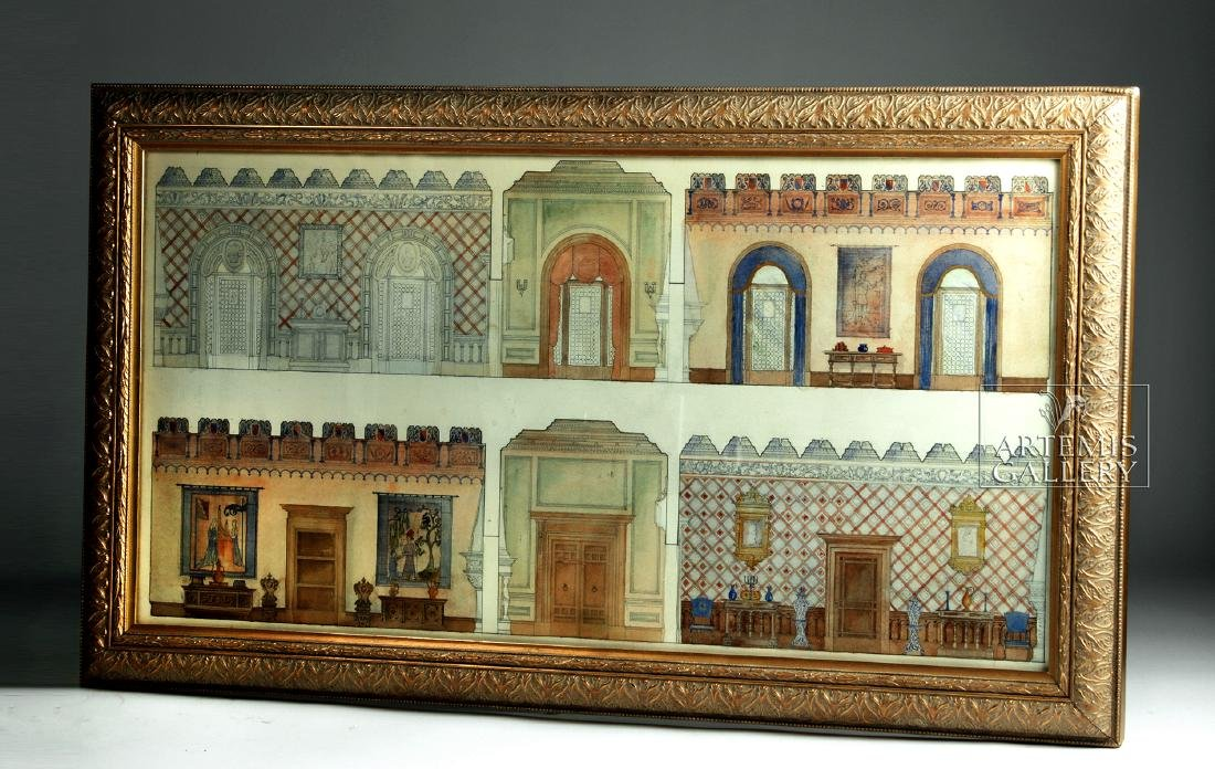 American Watercolor - Arts & Crafts Interior - 1920 - 6