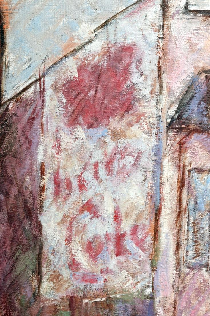 """L. Dennis Painting """"Small Hotel Above Demolition"""" 1977 - 5"""