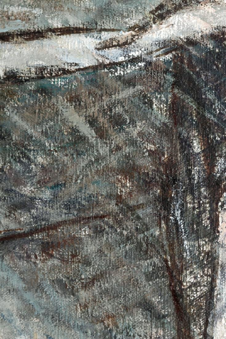 """L. Dennis Painting """"Small Hotel Above Demolition"""" 1977 - 6"""