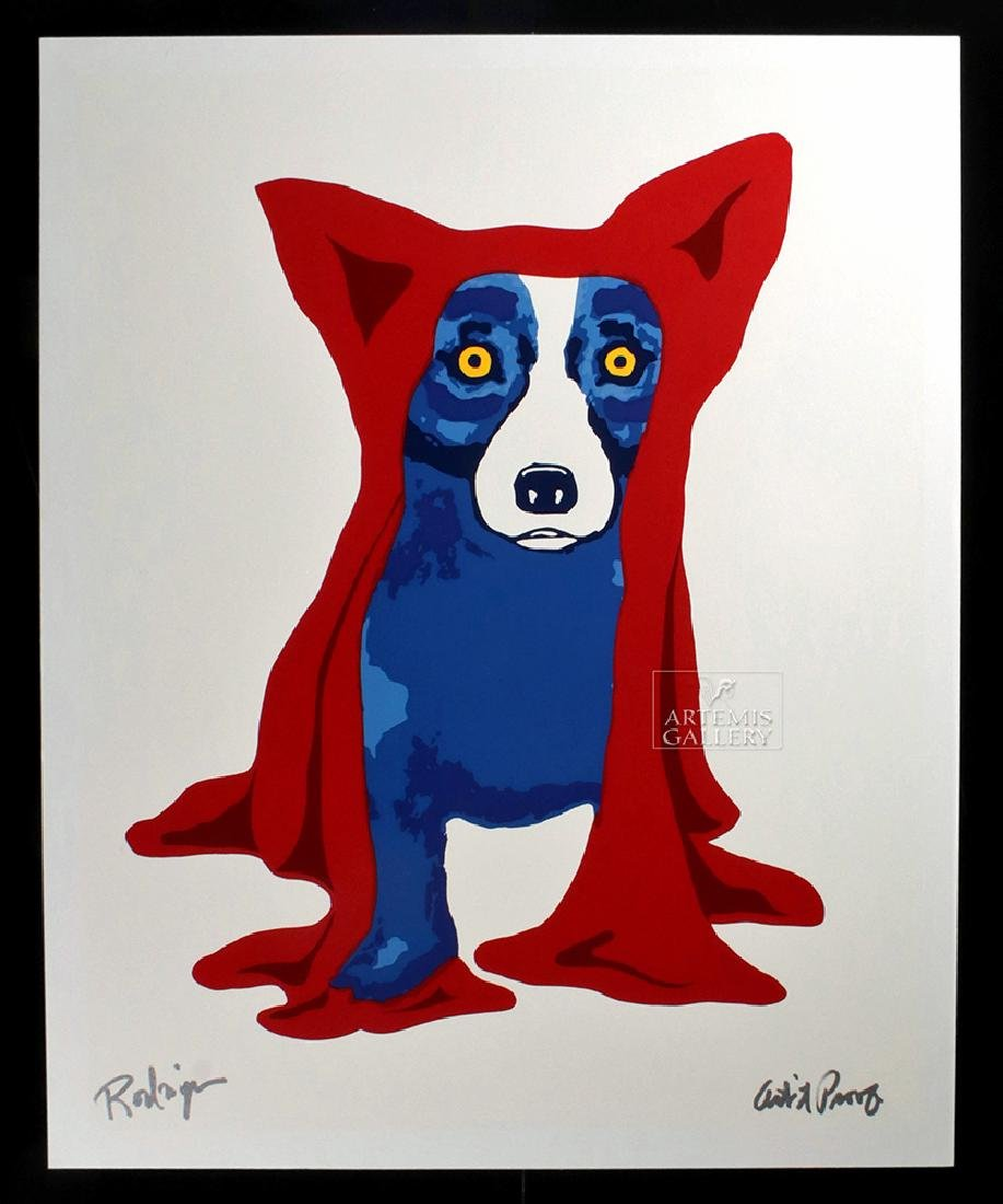 Signed Rodrigue Red Blue Dog Artist's Proof - 1993