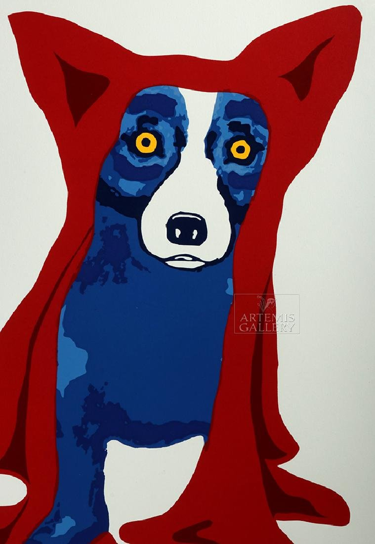 Signed Rodrigue Red Blue Dog Artist's Proof - 1993 - 4