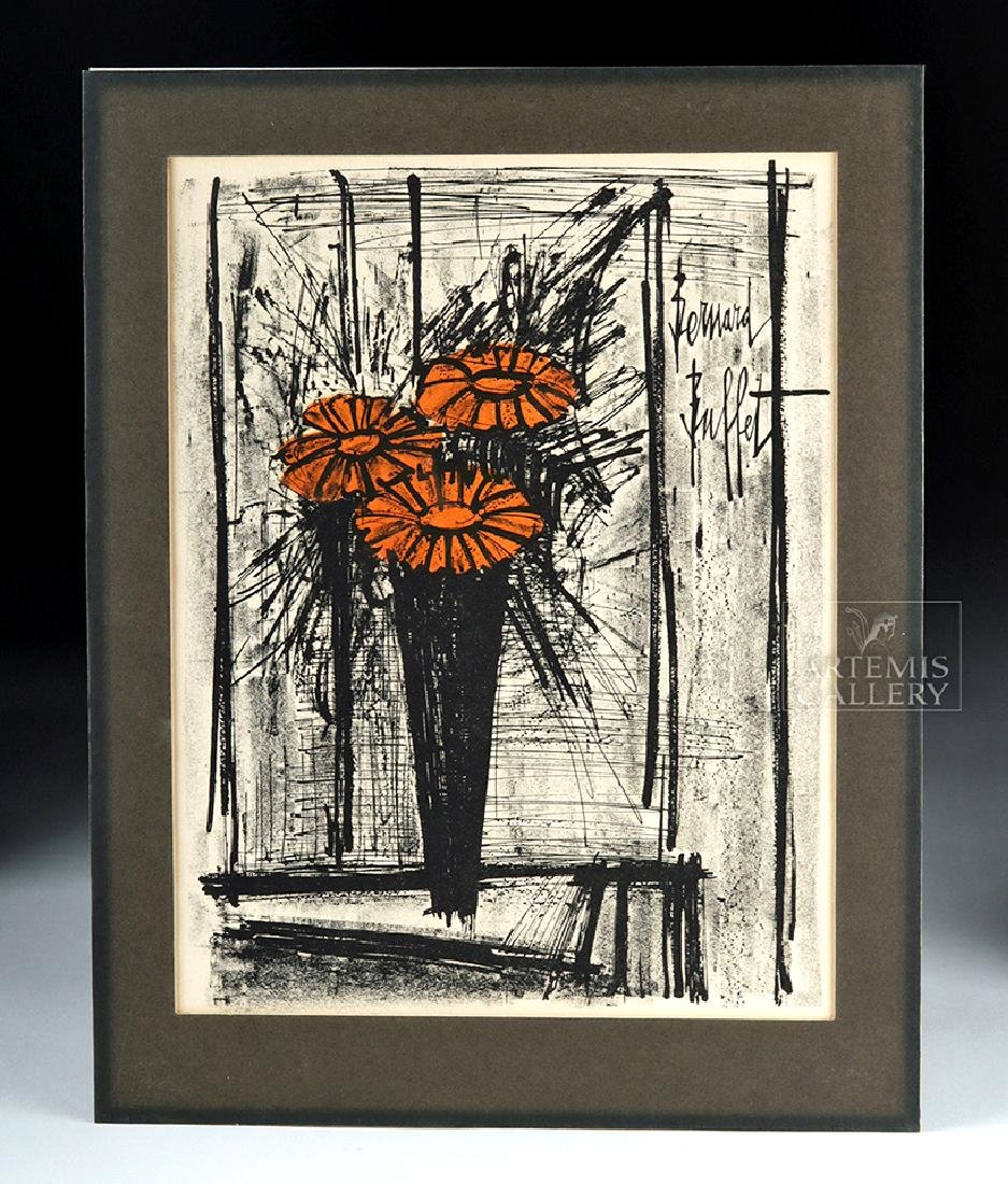 Bernard Buffet Original Lithograph - Flowers, 1968