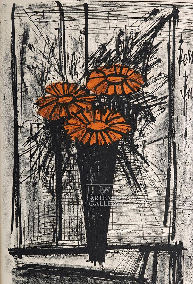 Bernard Buffet Original Lithograph - Flowers, 1968 - 2